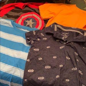 Bundle of 5T short sleeve shirts